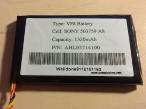Questa la foto della batteria originale presente nel TOMTOM GO 730